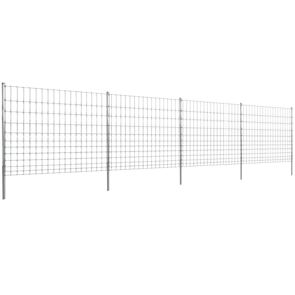 Step In Fence 50 M With Post Galvanized Wire Fence 150 12 15 Sales Online Silver