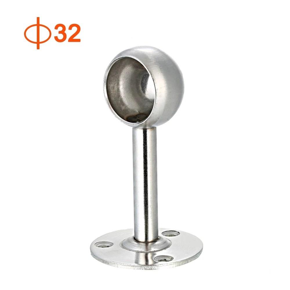2pcs curtain rod ceiling mount bracket set of 2 curtain rod brackets closet lever support rod holder socket bracket curtain rod base
