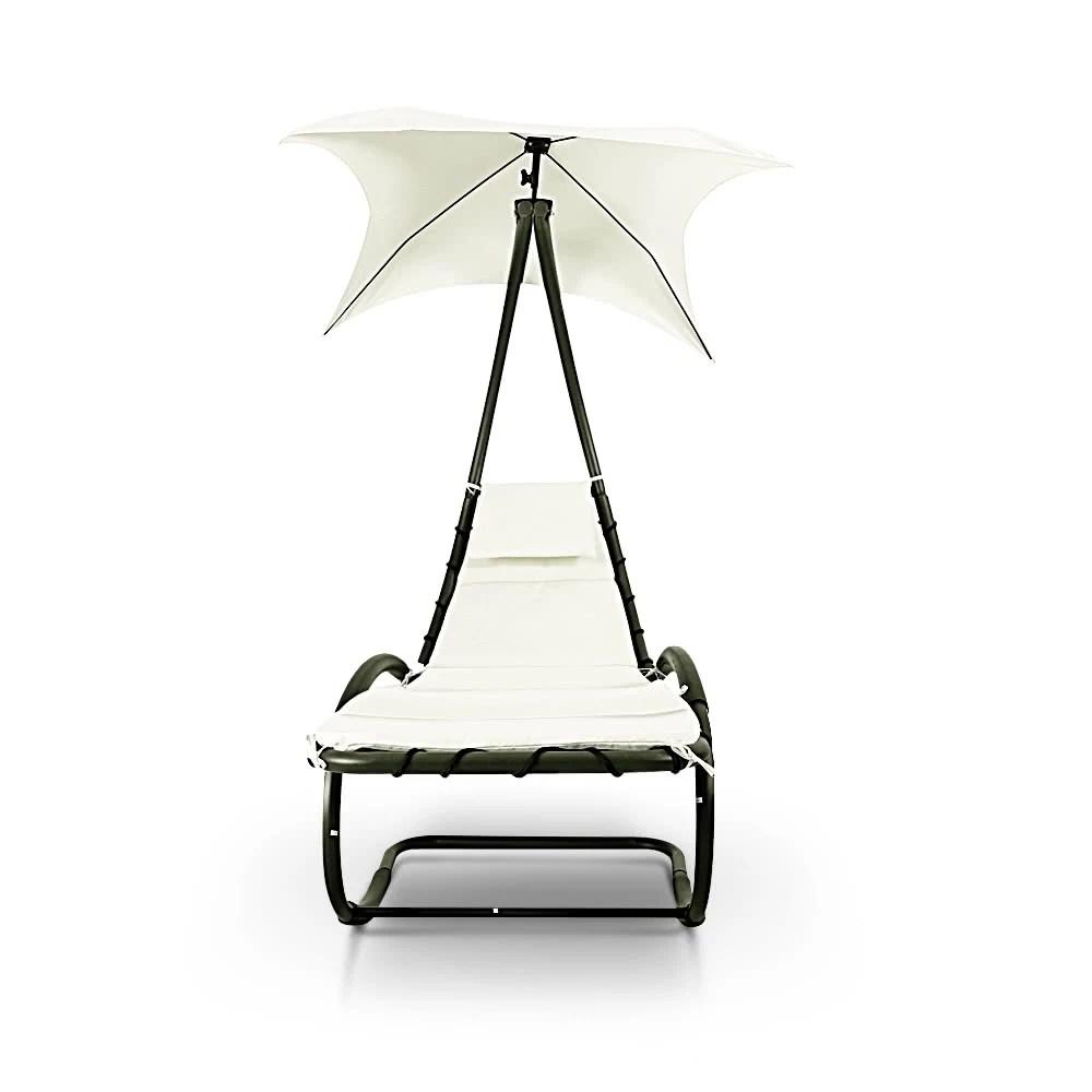 IKayaa Rocking Outdoor Patio Chaise Lounge Chaise W