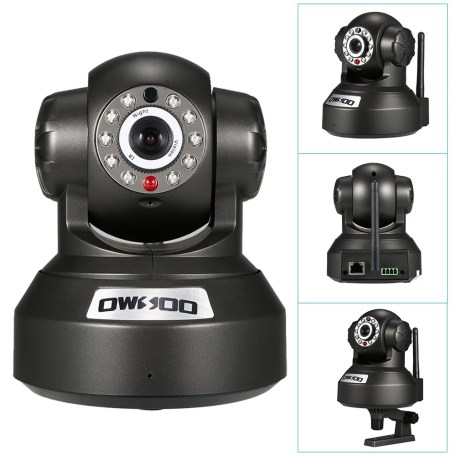 OWSOO Wireless WiFi IP Cloud CameraBaby Monitor// CCTV Surveillance Security Network PTZ Camera/ Support Cloud Storage/ P2P/ for Android/iOS APP Browser View/ IR-CUT Filter Infrared/ Night View/ Motion Detection