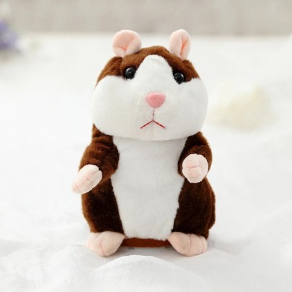 Gadający chomik Electric Smart Little Talking Hamster Record Repeat Stuffed Plush Animal Kids Doll 15Cm