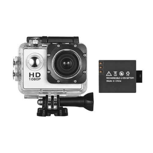 Mini Sports DV VGA HD Action Camera Web Cam with 1 Detachable Battery LCD Screen Support Motion Detection Cyclic Record 30m Waterproof Silver