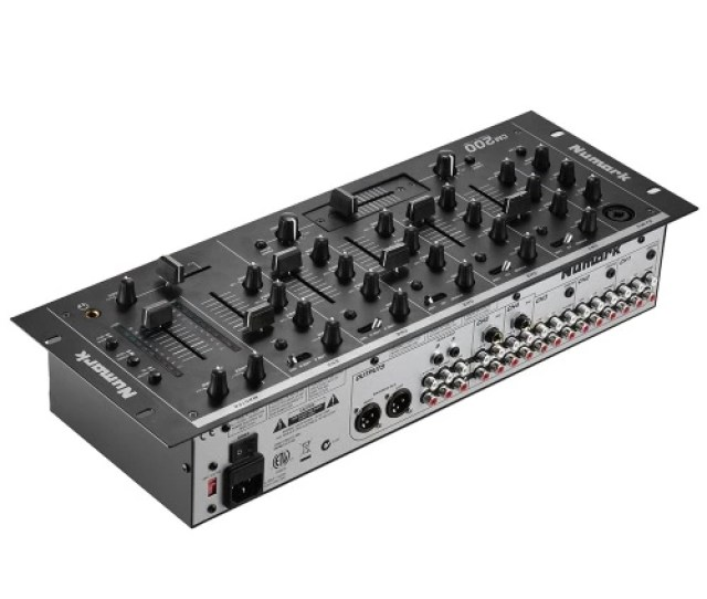 Professional 5 Channel Dj Rack Mount Stereo Mixer Mixing Console