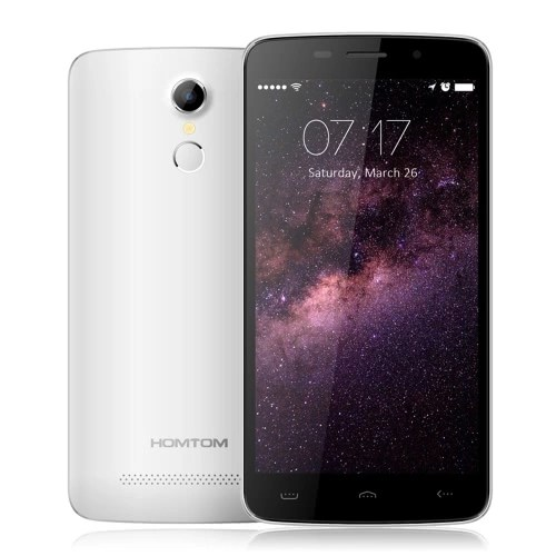 """HOMTOM HT17 Smartphone 4G Android 6.0 Marshmallow OS Quad Core MTK6737 5.5"""" Screen 1GB RAM 8GB ROM 2MP 8MP Dual Cameras Smart Gestures Wake Gesture Power Saving Mode FingerPrint Quick Charge"""
