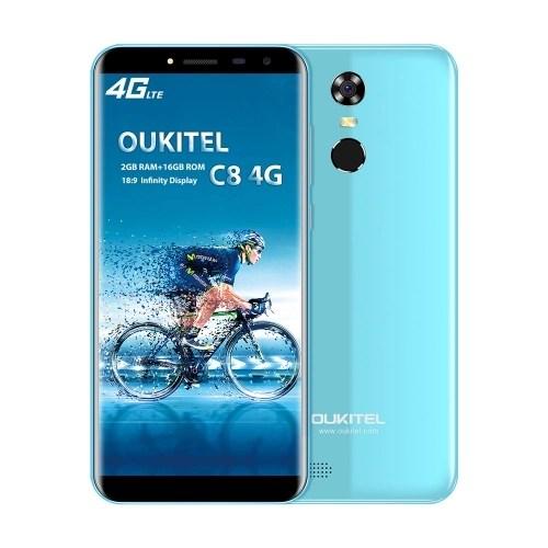 OUKITEL C8 4G Mobile Phone 18:9 5.5 Inch HD 2GB RAM 16GB ROM