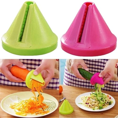 Eat Fewer Calories and Consume Fewer Calories with Kitchen Gadget Funnel Vegetable Carrot Radish Cutter Shred Slicer Spiral Device