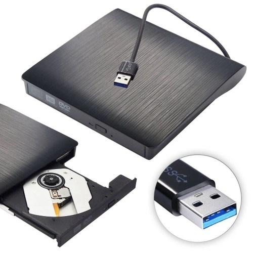 USB 3.0 Portable Ultra Slim External CDRW DVDRW CD DVD Player Drive Rewriter Burner