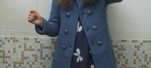 [穿搭] 藍色冬天。冬季毛領可拆復古大衣