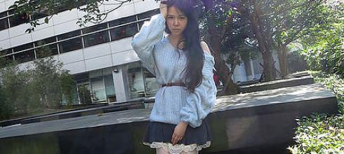 [穿搭] 藍色穿搭!馬卡龍軟綿綿露背毛衣(amai、snidel)