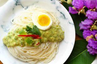 [食譜] 酪梨涼麵做法。酪梨優格涼麵與汁漬酪梨。