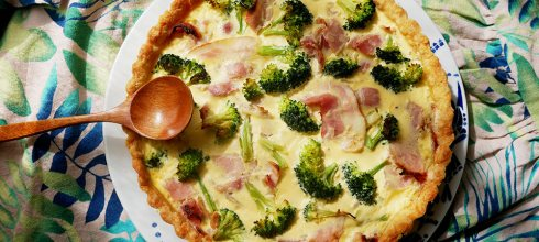 [食譜] 鹹派做法,培根洋蔥青花菜鹹派做法