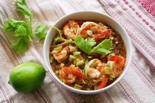 [食譜] 鮮蝦粉絲煲做法,簡易鮮蝦粉絲做法