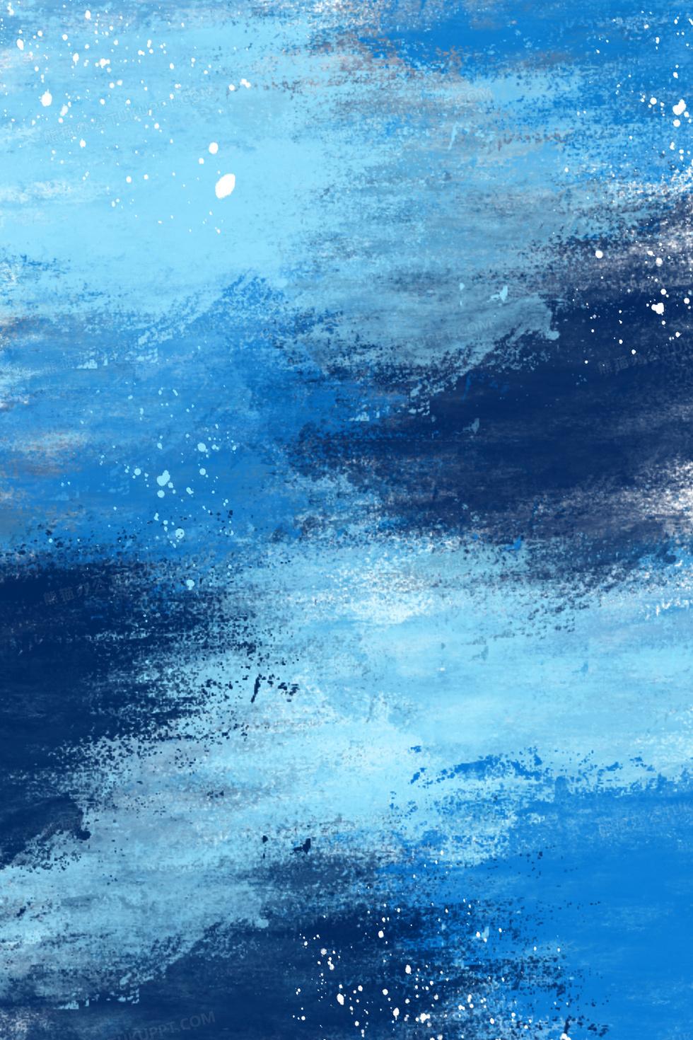 藍色水墨噴濺水彩色塊涂鴉背景圖片素材免費下載_水墨背景_3543*5314像素_【熊貓辦公】