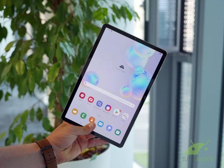 Samsung Galaxy Tab S6 si aggiorna e riceve l'interfaccia One UI 2.5