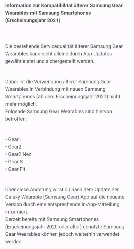 samsung gear 1 2 neo s fit galaxy s21 supporto
