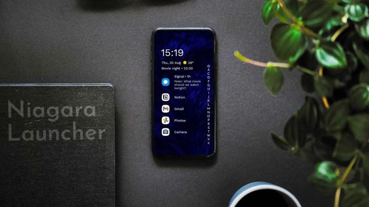 La nuova beta di Niagara Launcher strizza l'occhio agli smartphone pieghevoli