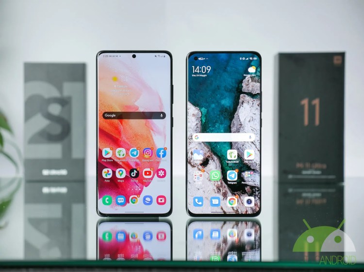 Xiaomi Mi 11 Ultra 5G vs Samsung Galaxy S21 Ultra 5G: a confronto (video)