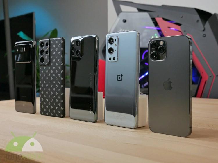 Gli smartphone top del 2021 a confronto: Samsung, Apple, Xiaomi, Oppo e OnePlus