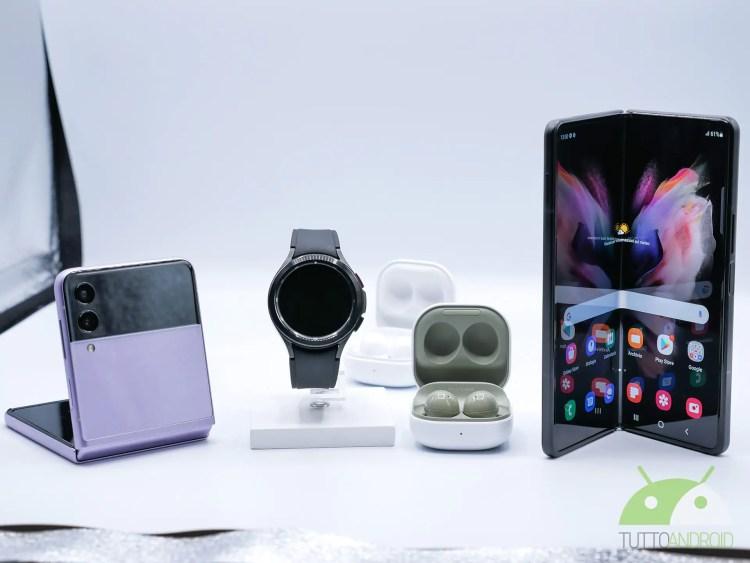 Via ai pre-ordini con sconto per Galaxy Z Fold3, Z Flip3, Watch4 e Buds2, dove comprarli