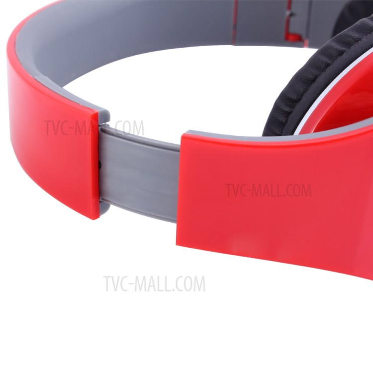 DITMO Foldable Stereo Wired Headphone with 3.5mm 1.2m Cable (DM-2600) - Red-4