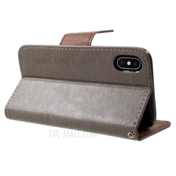 Croix Texture Cuir Stand Portefeuille Protection Téléphone ...