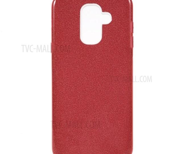 Glittery Pulver Tpu Kunststoff Hybrid Gehause Fur Samsung Galaxy A  A Sterne Lite Rot Tvc Mall Com