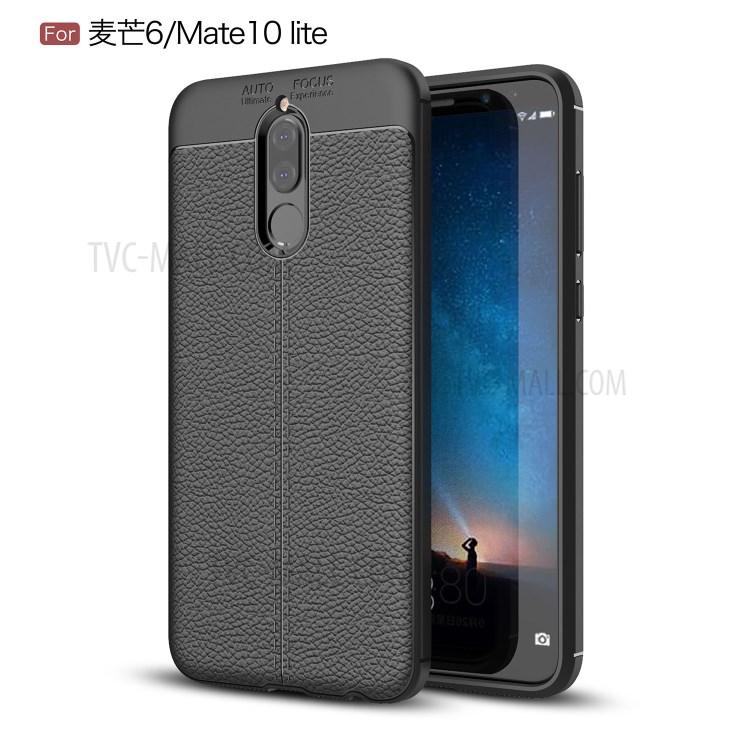 Litchi Grain Soft Tpu Back Cover For Huawei Mate 10 Lite Nova 2i