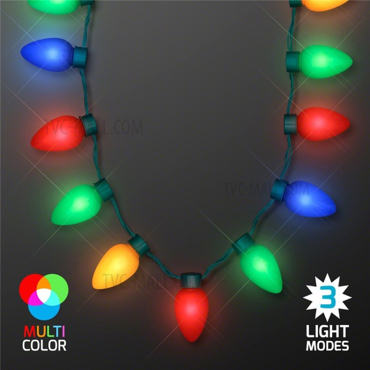 Led Christmas Light Necklace