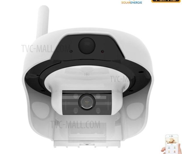 Freecam Solar Powered Wireless Wifi Security Camera 720p Ip55 Waterproof Ip Network Web Cam White