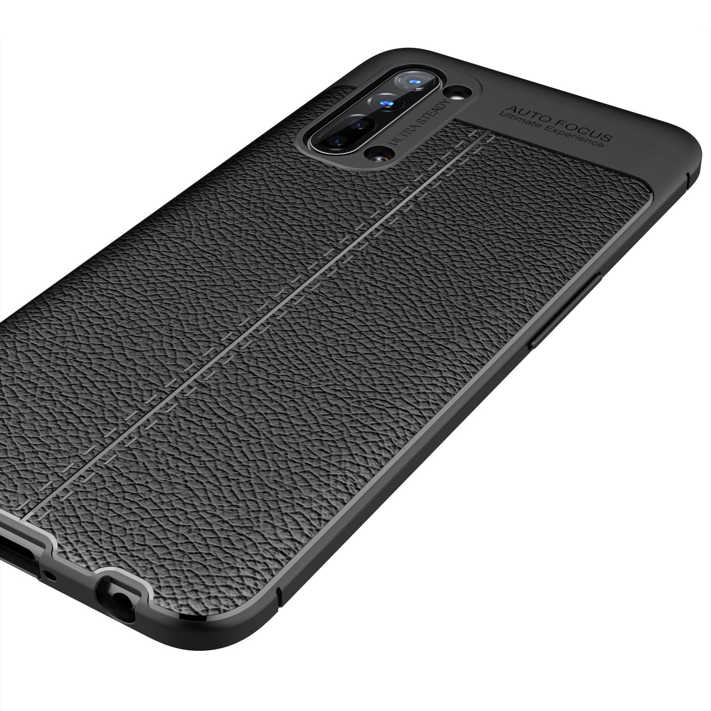 Litchi Skin Soft Tpu Mobile Phone Case For Oppo Reno3