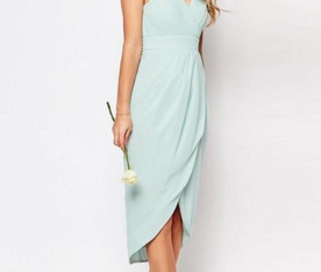 7cbfa406c9cf4 Sheath High Low Sleeveless Criss Cross V Neck Chiffon Bridesmaid Dress