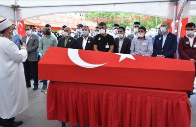 Şehit Yüzbaşı Mahmut Top Samsun'da son yolculuğuna uğurlandı