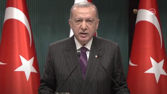 CANLI- Cumhurbaşkanı Erdoğan: Son yapılan AB zirvesinde Kıbrıs Türk halkının yine yok sayıldığını gördük