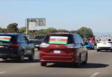 ABD'nin San Francisco kentinde 250 araçlık konvoyla Ermenistan protesto edildi