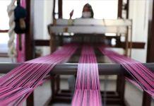 Saray kumaşı 'kutnu' el tezgahlarında geleceğe taşınıyor