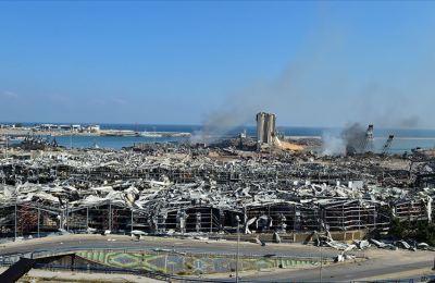 Beyrut Limanı'ndaki patlamada zarar gören siloların yıkılmasına karar verildi
