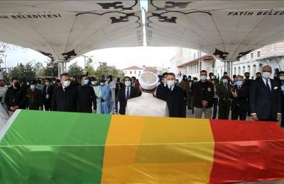 İstanbul'da vefat eden eski Mali Cumhurbaşkanı Toure için cenaze töreni düzenlendi