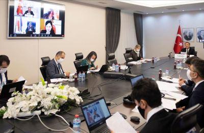 Bakan Selçuk, yabancı mevkidaşlarıyla Kovid-19 sürecinde Türkiye'nin eğitim modelini paylaştı
