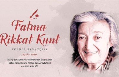 Tezhip sanatçısı Fatma Rikkat Kunt