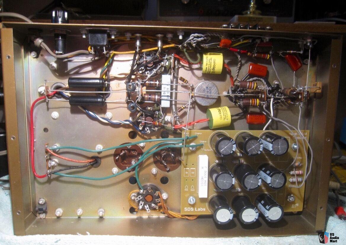 Pair Heathkit W5m Tube Amps W Peerless Genalex