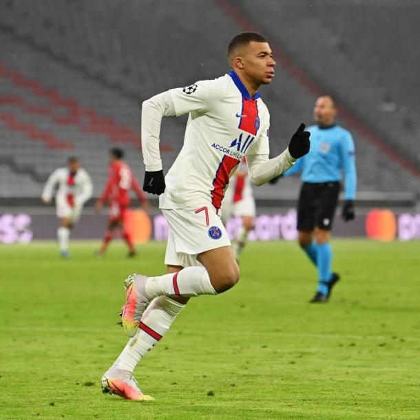 Kylian Mbappé was the key player at PSG.  / Twitter: Official Champions League