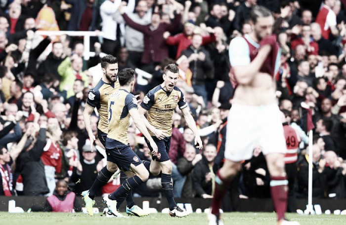 West Ham United 3-3 Arsenal: Koscielny saves Gunners' blushes after six-goal drama