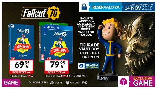 Consigue ya la Tricentennial Edition de Fallout 76 solo en GAME