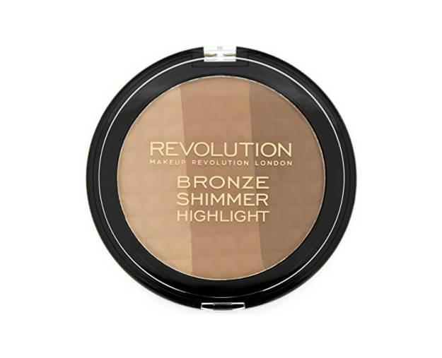 Makeup Revolution Bronzující pudr a rozjasňovač v jednom (Ultra Bronze Shimmer and Highlighter) (kMK026) od www.kosmetika.cz