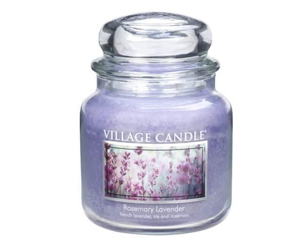 Village Candle Vonná svíčka ve skle Rozmarýn a levandule (Rosemary Lavender) 397 g (kVIL0034) od www.kosmetika.cz