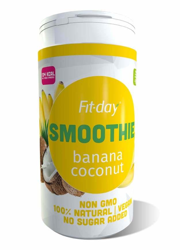 FIT-DAY FIT-DAY Plant based smoothie BANANA-COCONUT 600 g (z49882) od www.kosmetika.cz