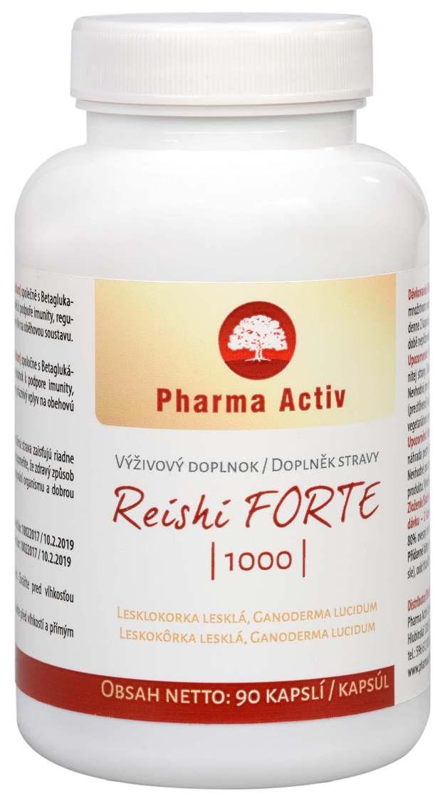 Pharma Activ Reishi FORTE 1000 90 kapslí (z50100) od www.kosmetika.cz