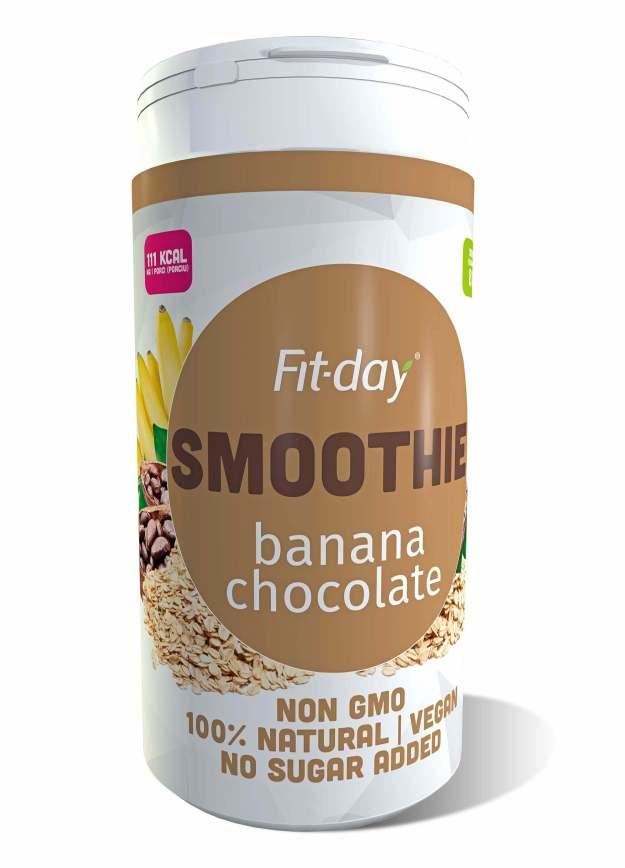 FIT-DAY FIT-DAY Plant based smoothie BANANA CHOCOLATE 600 g (z53341) od www.kosmetika.cz