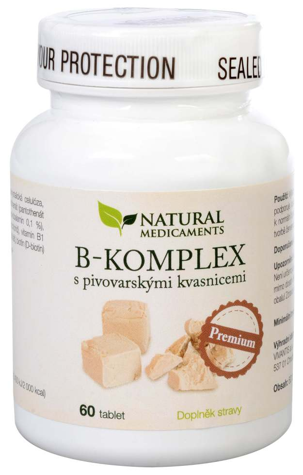 Natural Medicaments B-komplex s pivovarskými kvasnicemi Premium 60 tablet (z55065) od www.kosmetika.cz