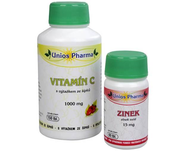 Vitamín C 1000 mg se šípkem 150 tbl. + Zinek 15 mg 60 tbl. ZDARMA (z1635) od www.prozdravi.cz